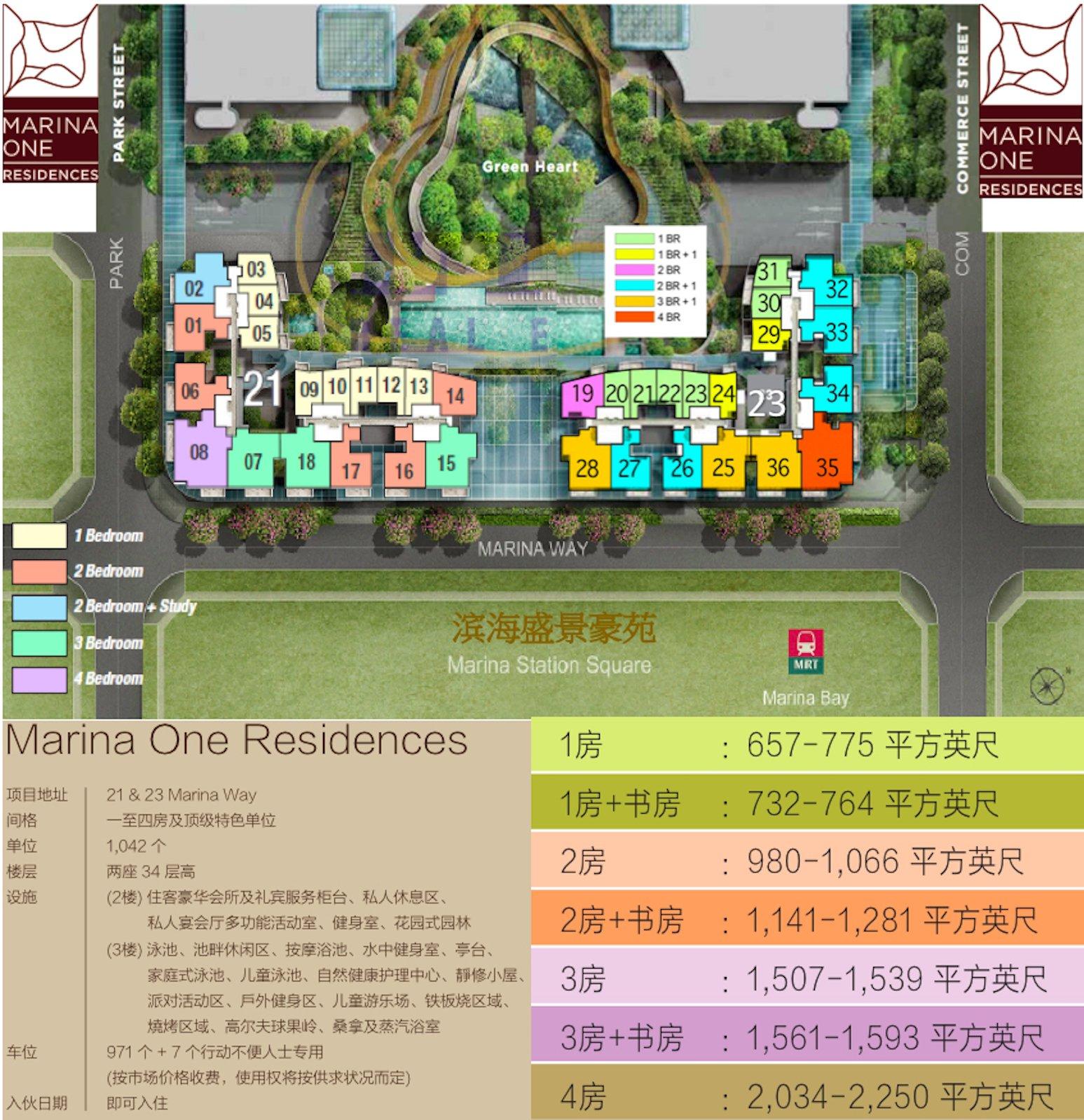 滨海盛景豪苑平面图和户型分布
