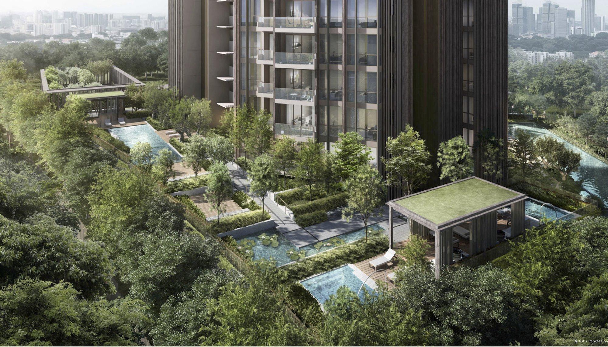 The Avenir Spa Pavilion Jacuzzi pool