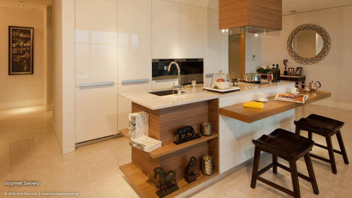 滨海盛景豪苑 marina one residences 4 bedroom gourmet servery