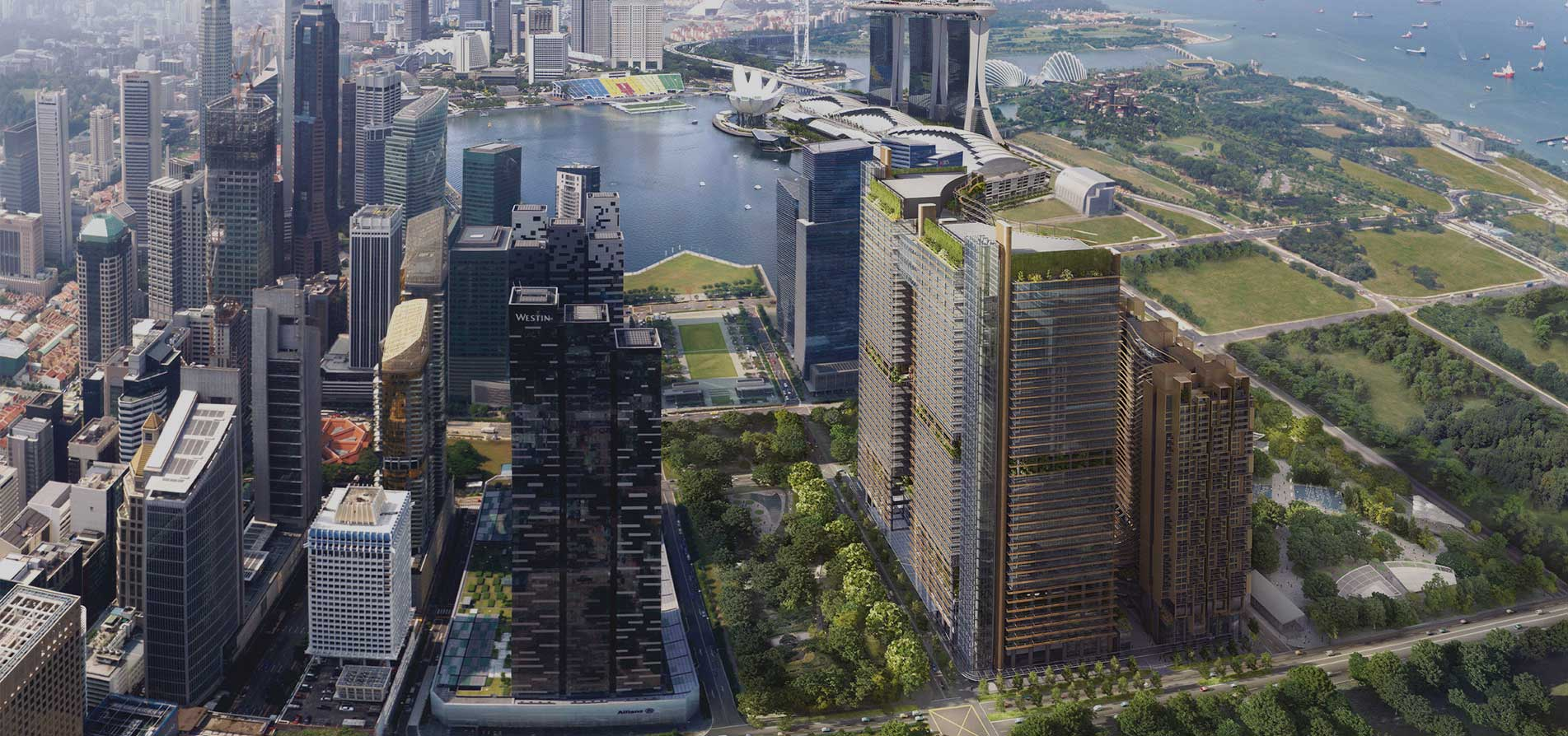 滨海盛景豪苑 marina one residences view marina bay