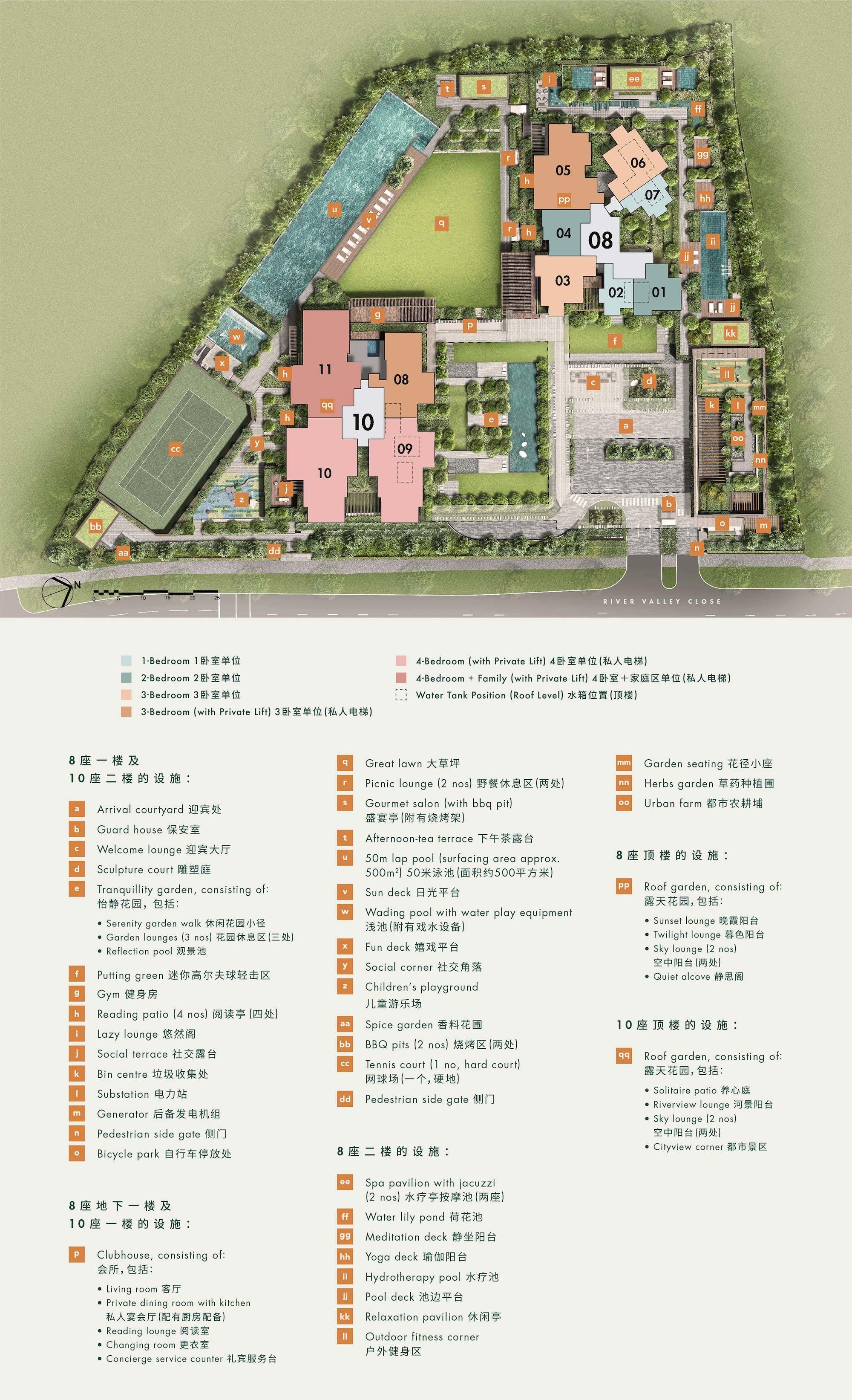 the Avenir condo site plan Chinese