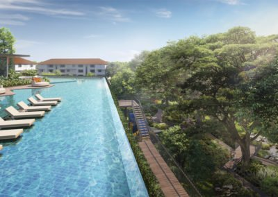 Avenue South Residence 南峰雅苑 cantilever pool to rail ocrridor