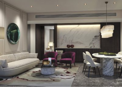 Avenue South Residence 南峰雅苑 peak 4 bedroom living