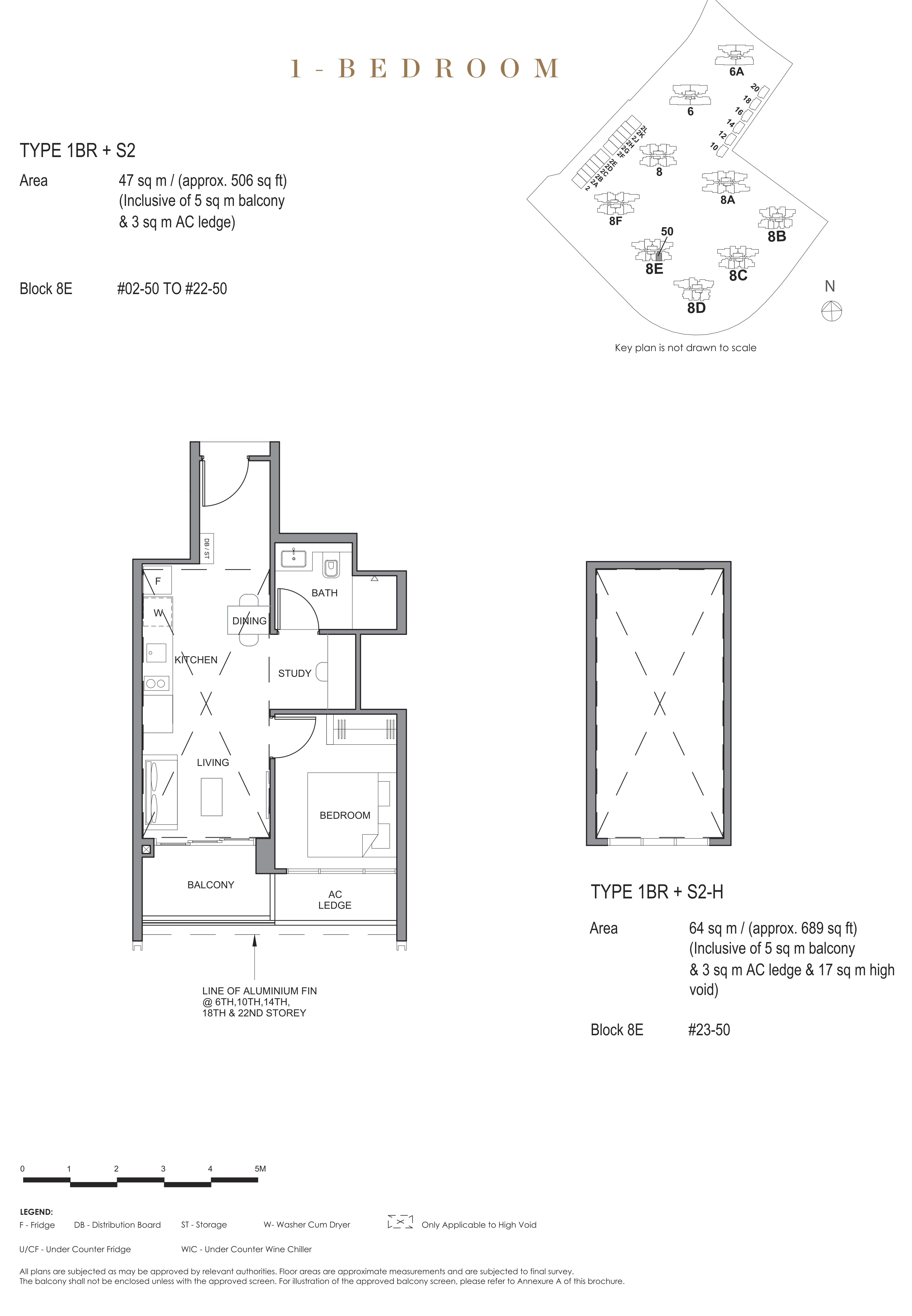 Parc Clematis 锦泰门第 contemporary 1 bedroom 1卧房-书房 1 BR-S2