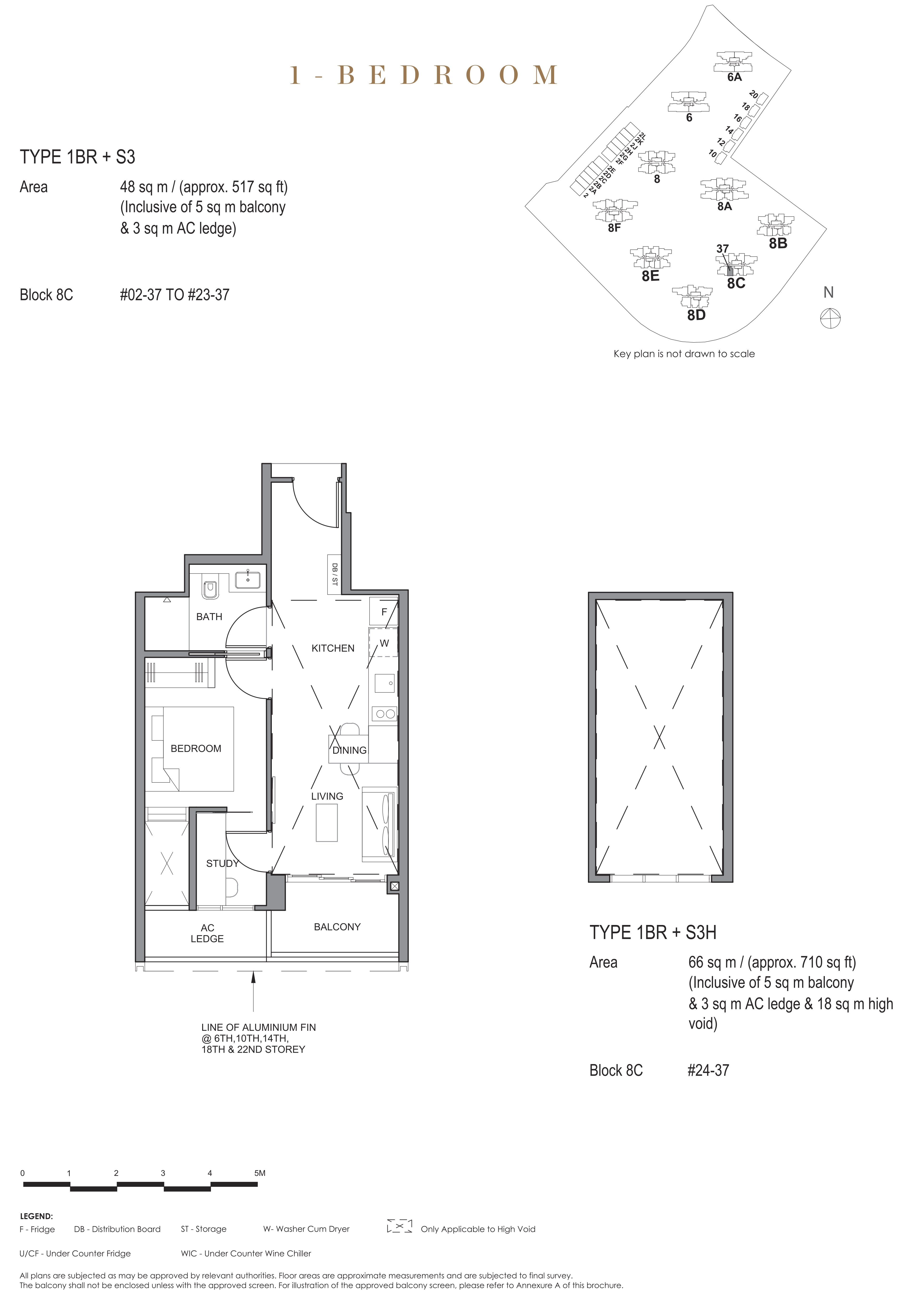 Parc Clematis 锦泰门第 contemporary 1 bedroom 1卧房-书房 1 BR-S3