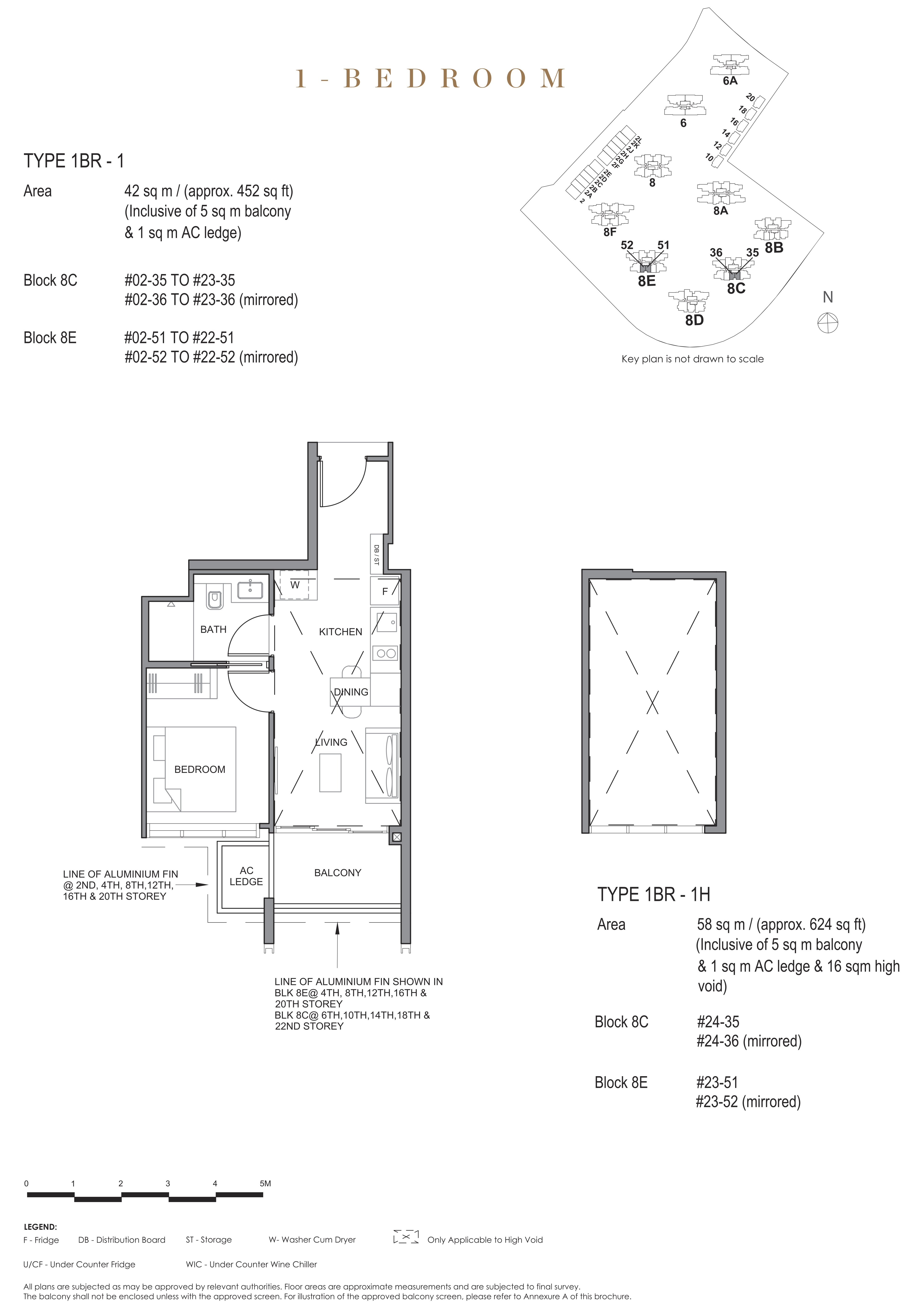 Parc Clematis 锦泰门第 contemporary 1 bedroom 1卧房 1 BR-1