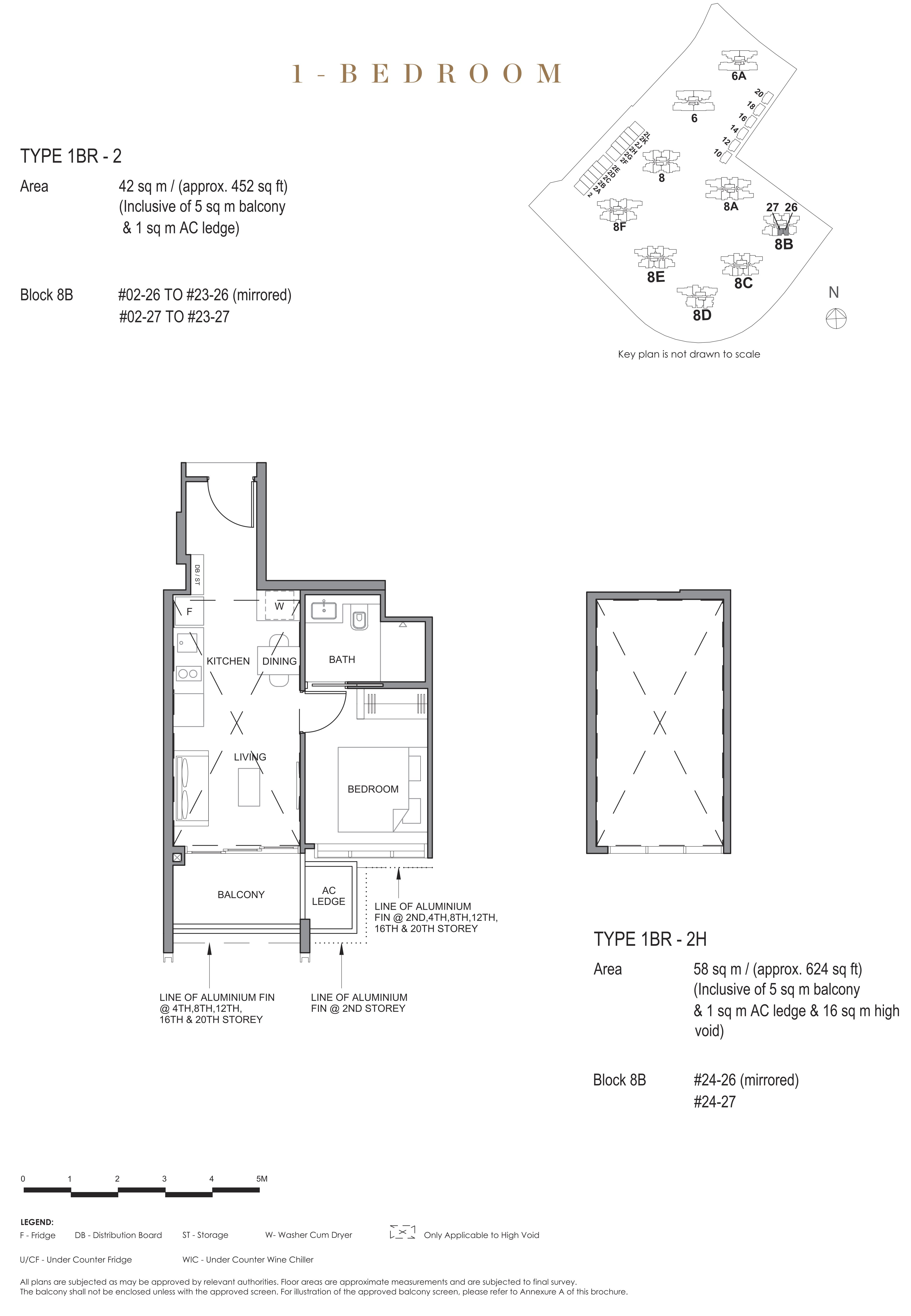 Parc Clematis 锦泰门第 contemporary 1 bedroom 1卧房 1 BR-2