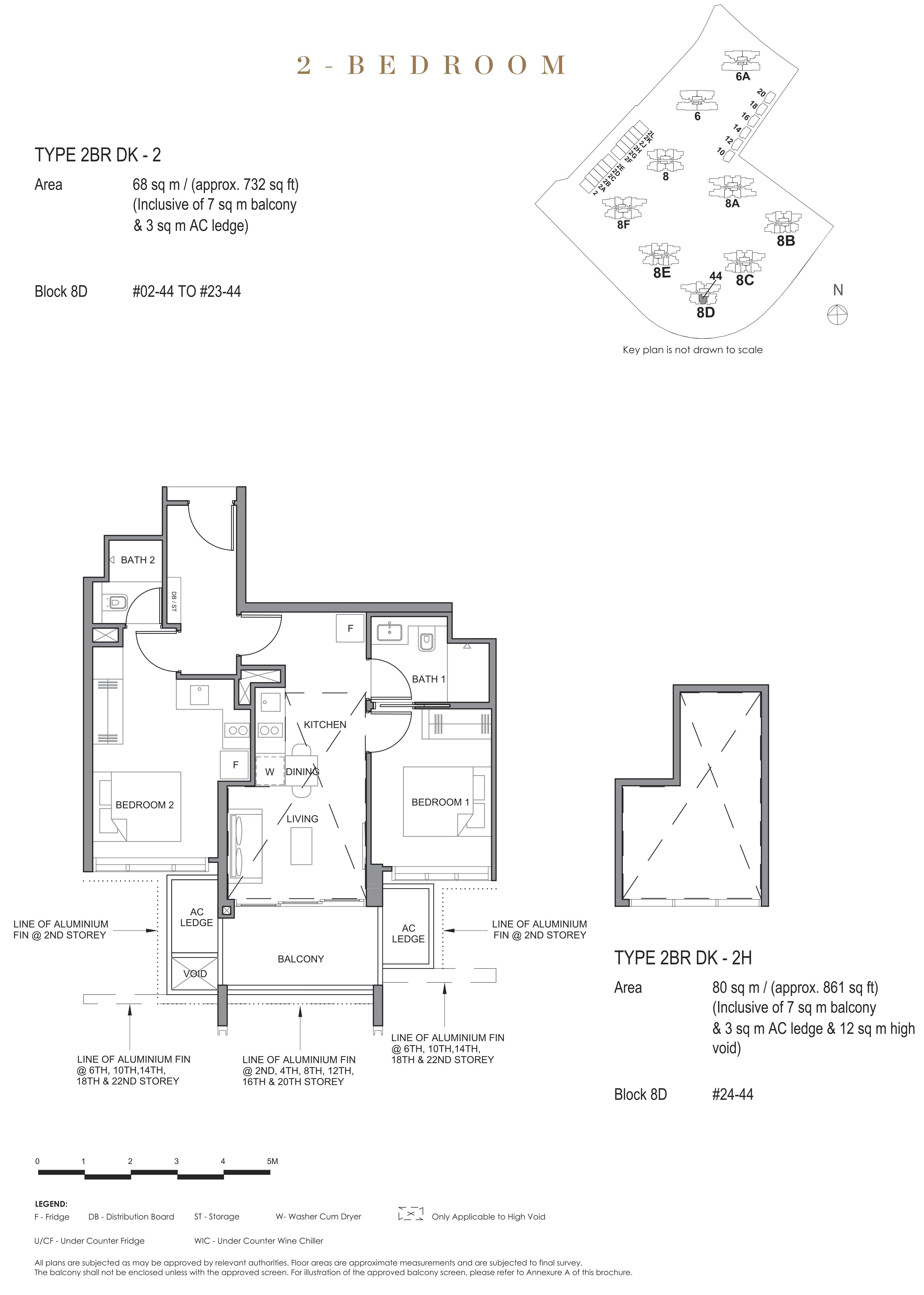 Parc Clematis 锦泰门第 contemporary 2 bedroom dk 2卧房-双钥匙 2BR-dk2