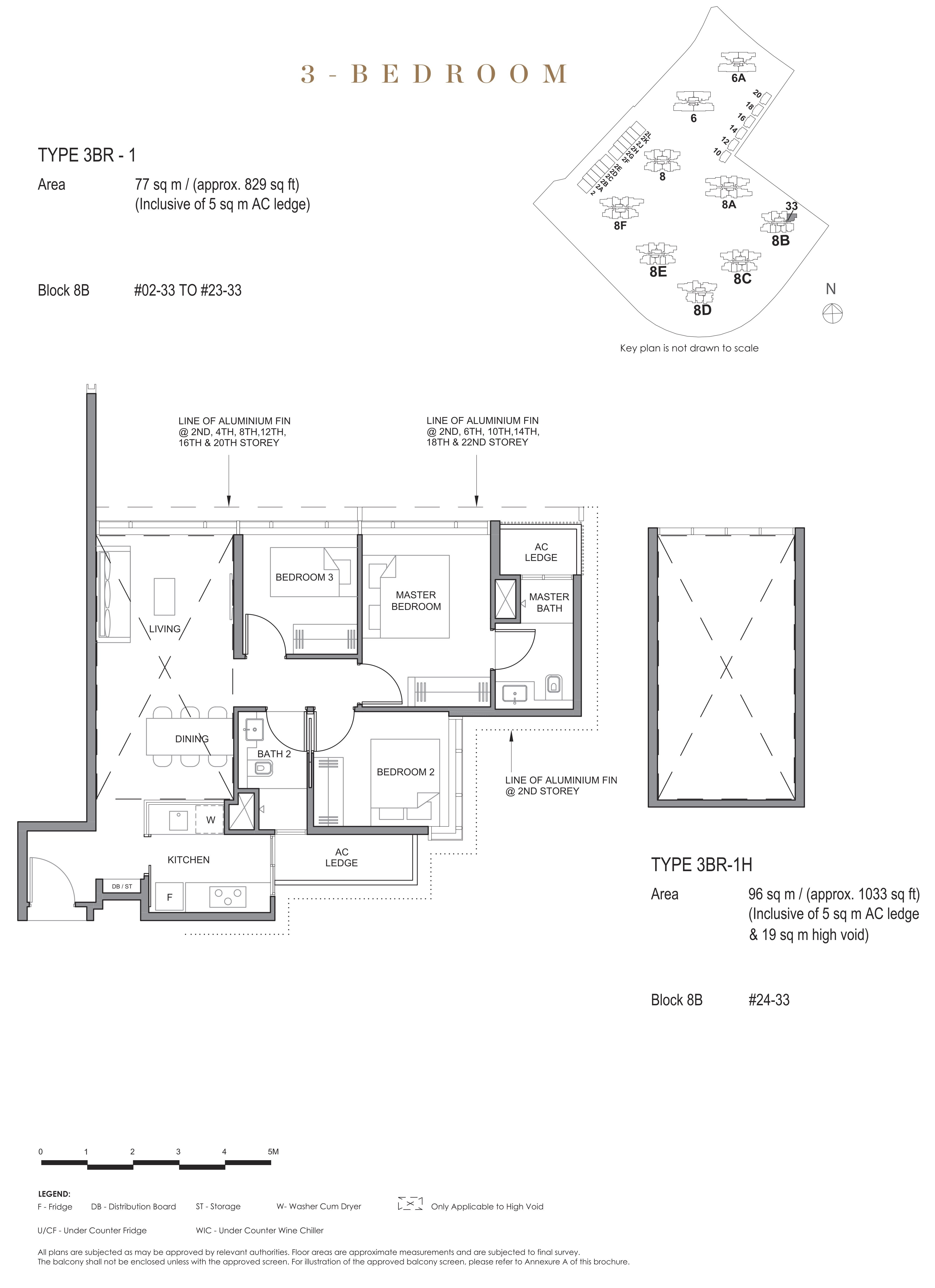 Parc Clematis 锦泰门第 contemporary 3 bedroom 3卧房 3 BR-1