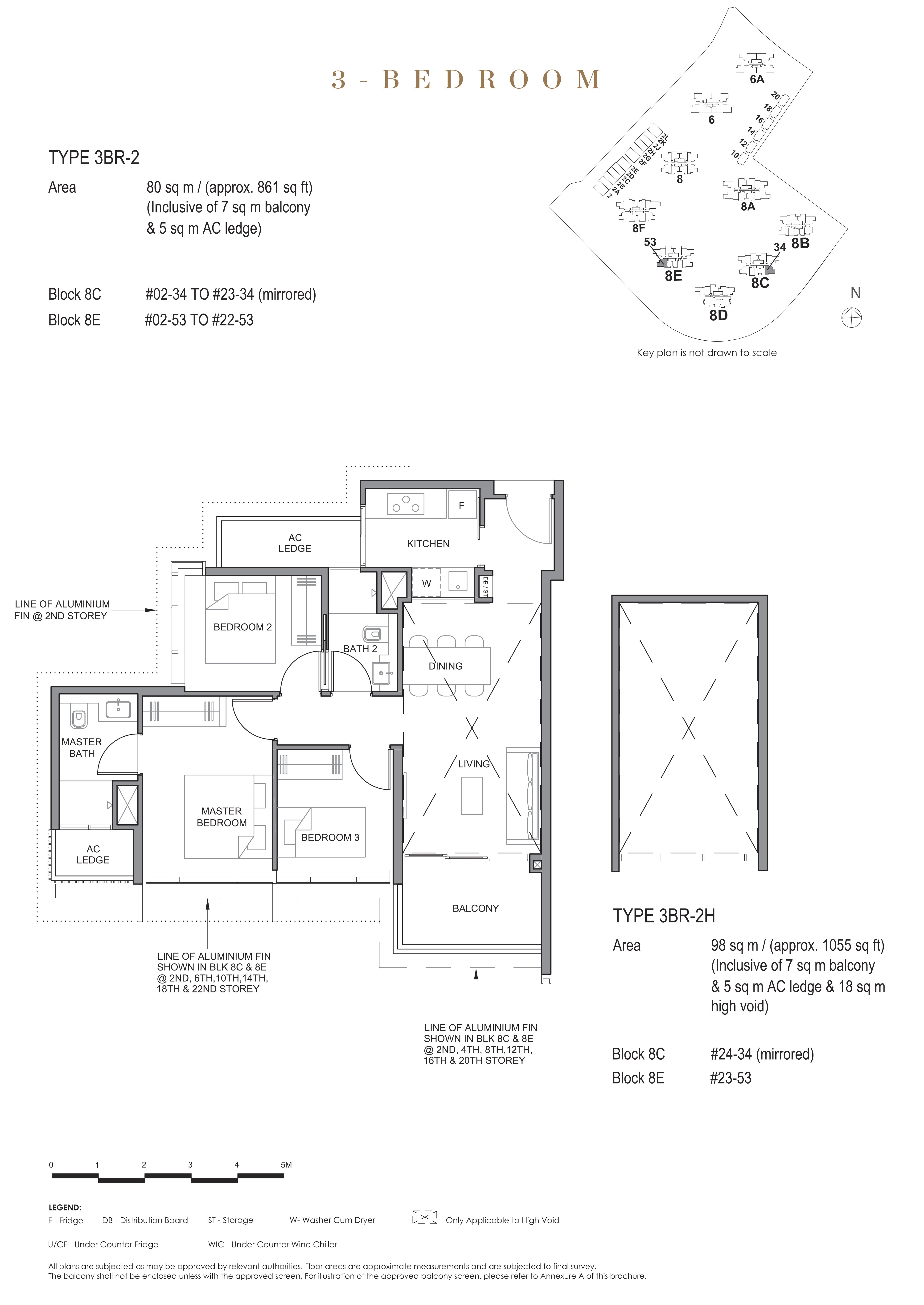Parc Clematis 锦泰门第 contemporary 3 bedroom 3卧房 3 BR-2