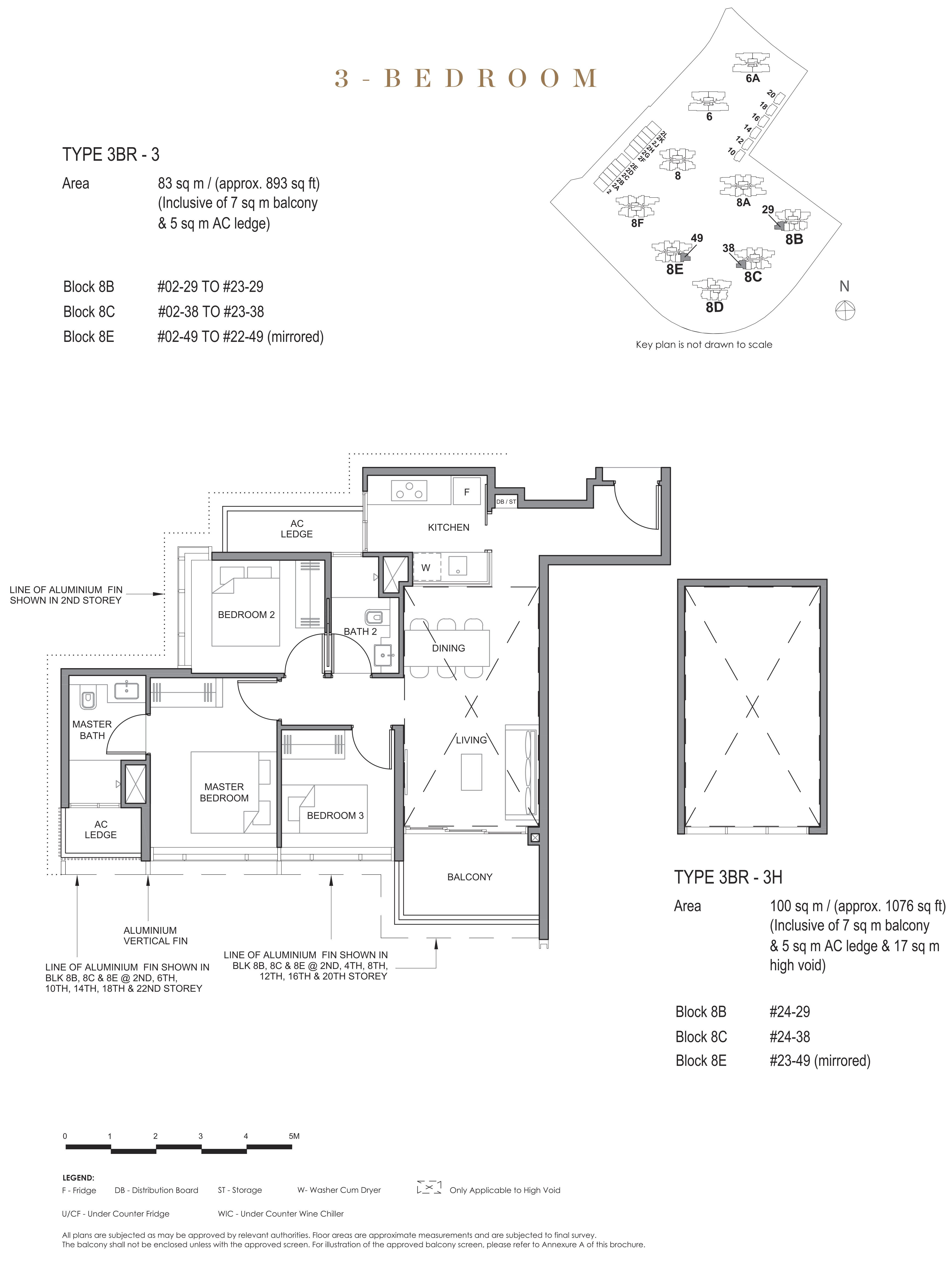 Parc Clematis 锦泰门第 contemporary 3 bedroom 3卧房 3 BR-3