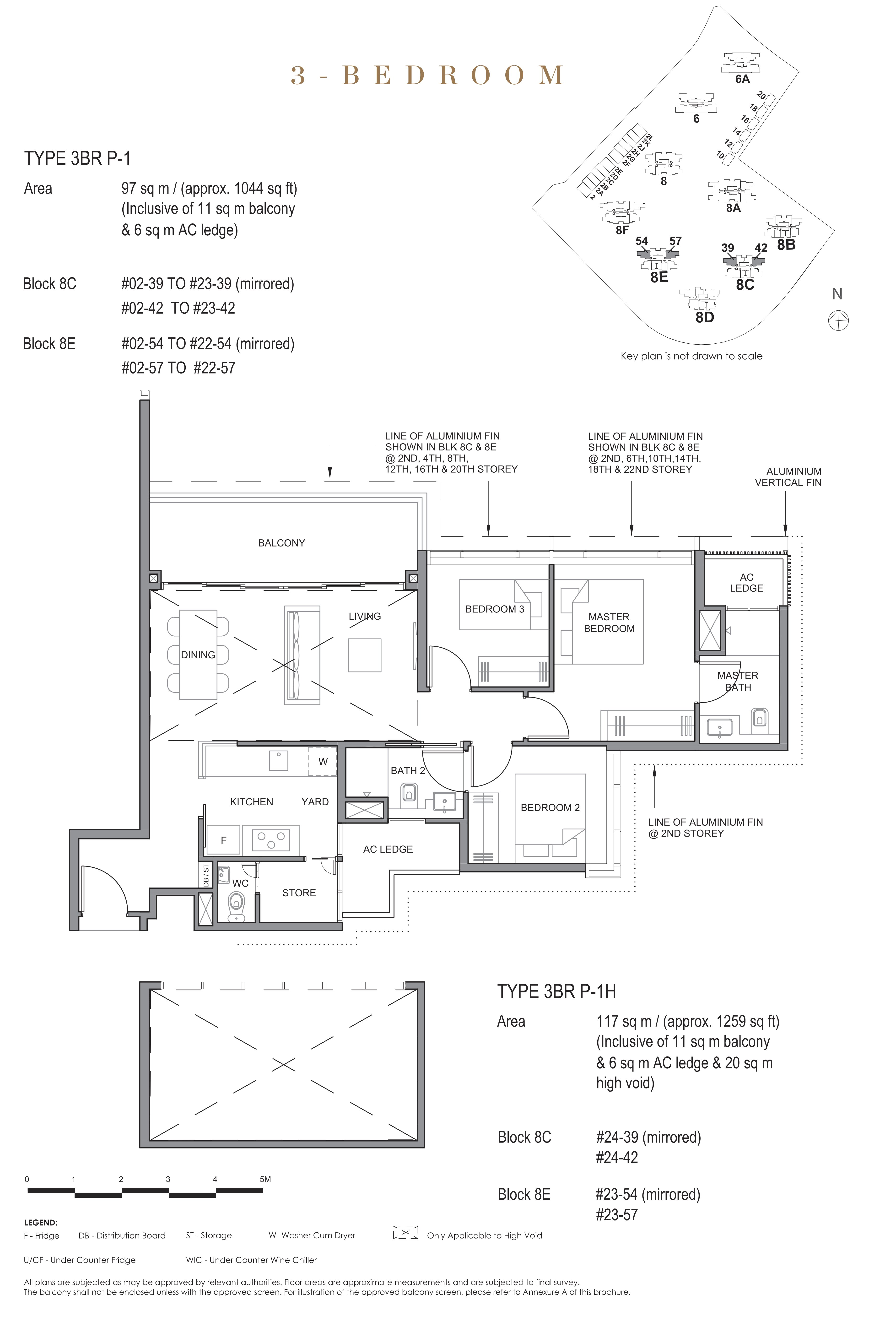 Parc Clematis 锦泰门第 contemporary 3 bedroom 3卧房 3BR-P-1