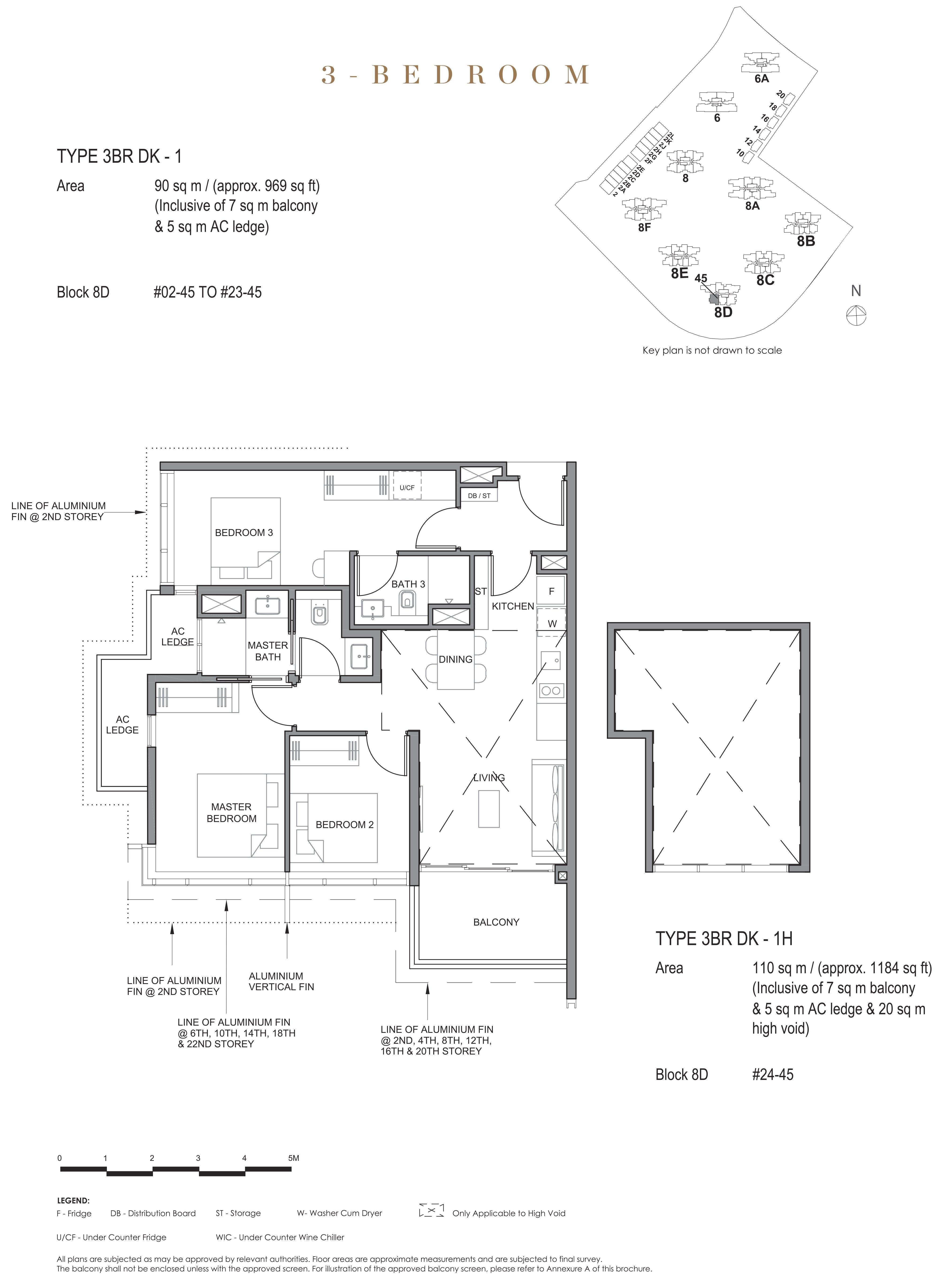 Parc Clematis 锦泰门第 contemporary 3 bedroom dk 3卧房-双钥匙 3BR-dk1