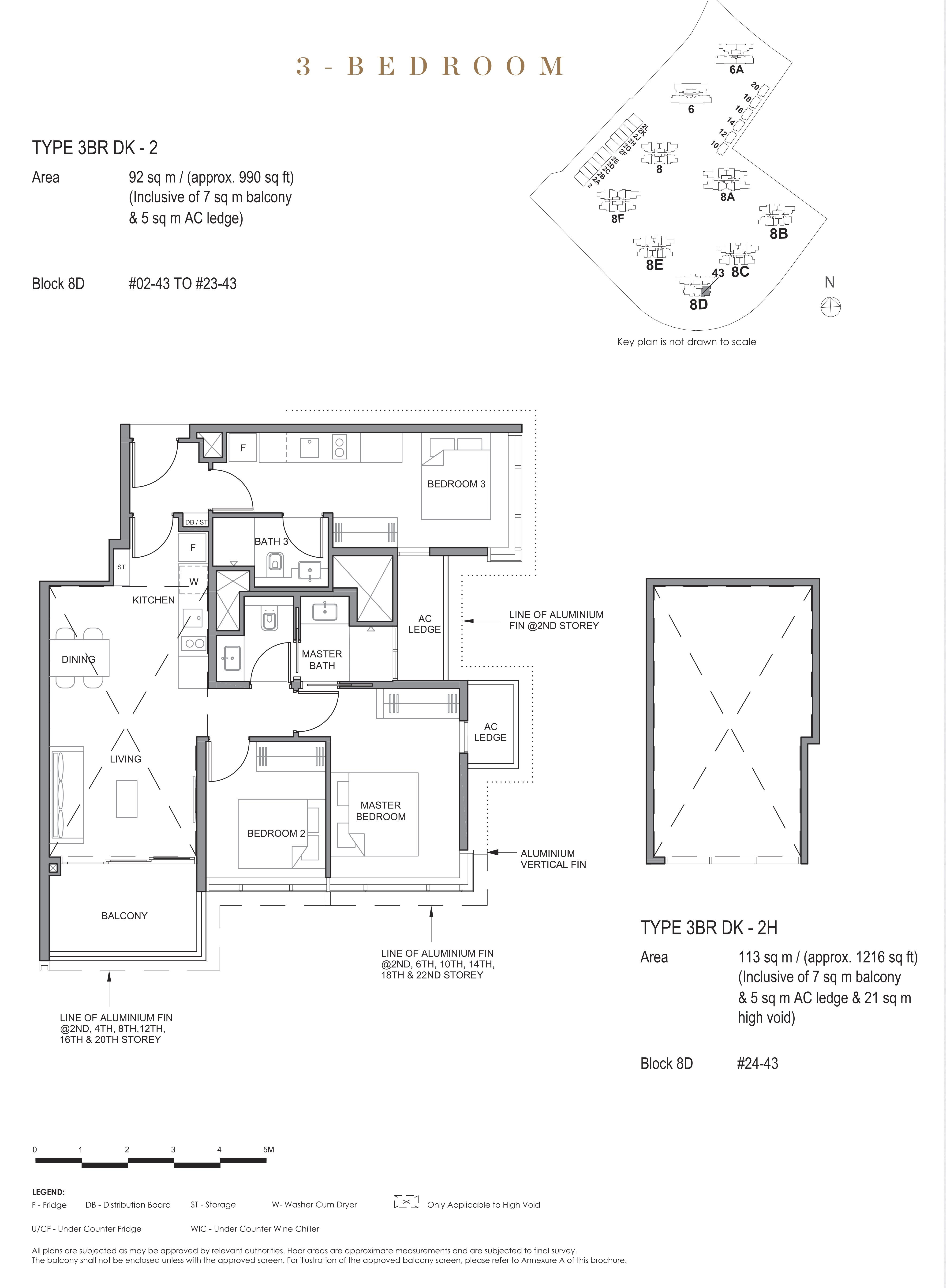 Parc Clematis 锦泰门第 contemporary 3 bedroom dk 3卧房-双钥匙 3BR-dk2