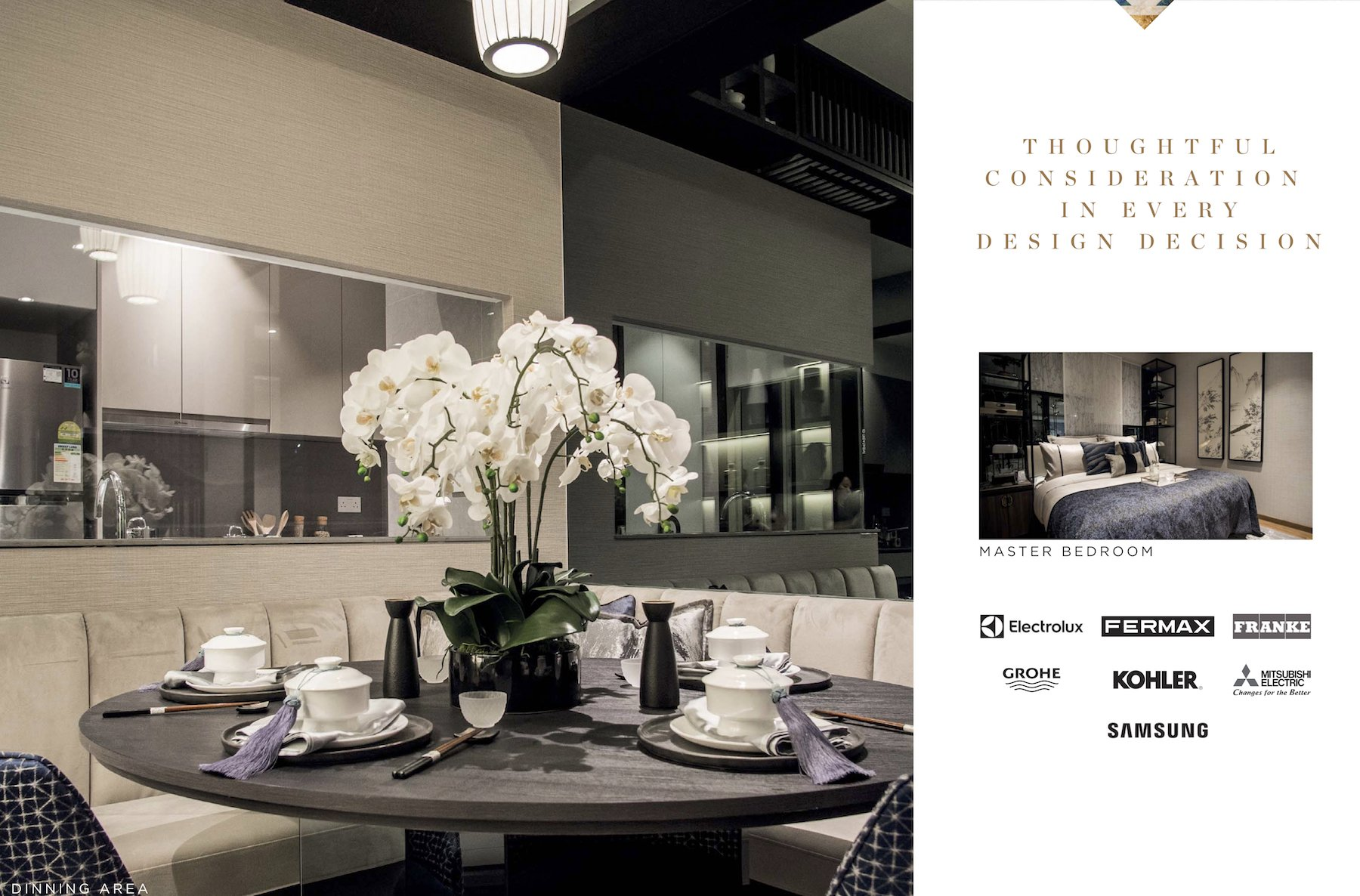 Parc Clematis 锦泰门第 contemporary dining furnishes