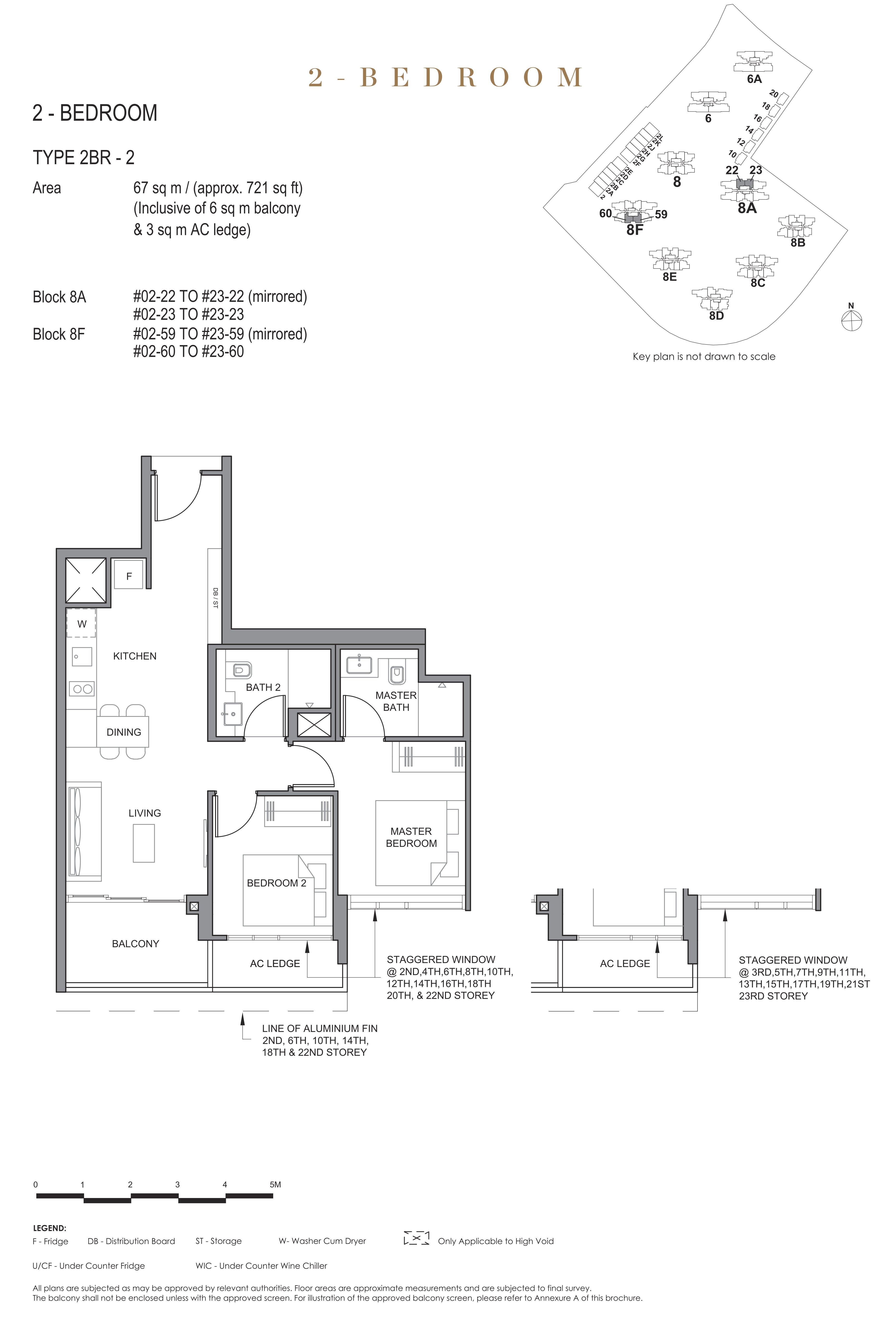 Parc Clematis 锦泰门第 elegance 2 bedroom 2卧房 2BR-2