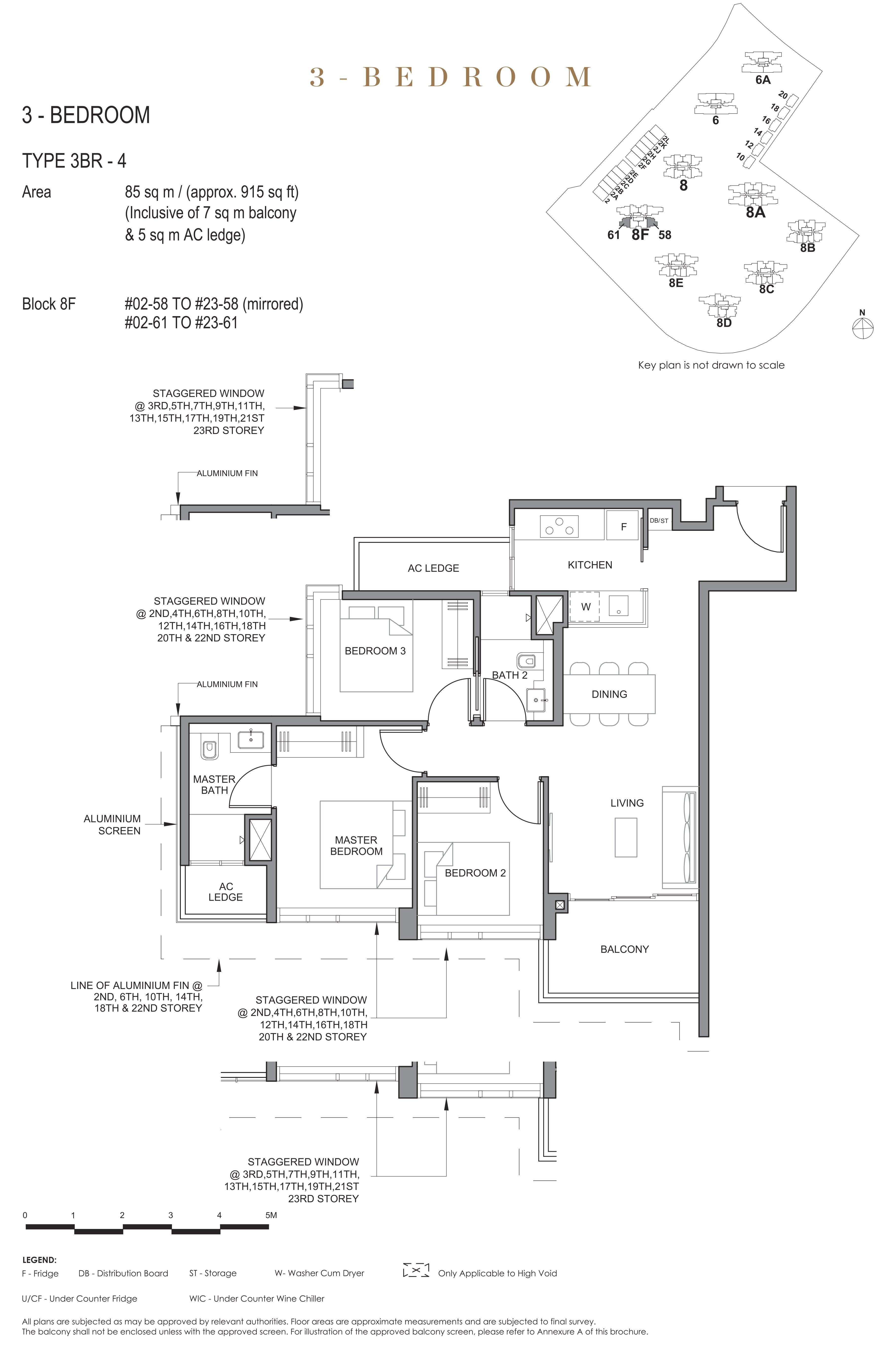 Parc Clematis 锦泰门第 elegance 3 bedroom 3卧房 3BR-4