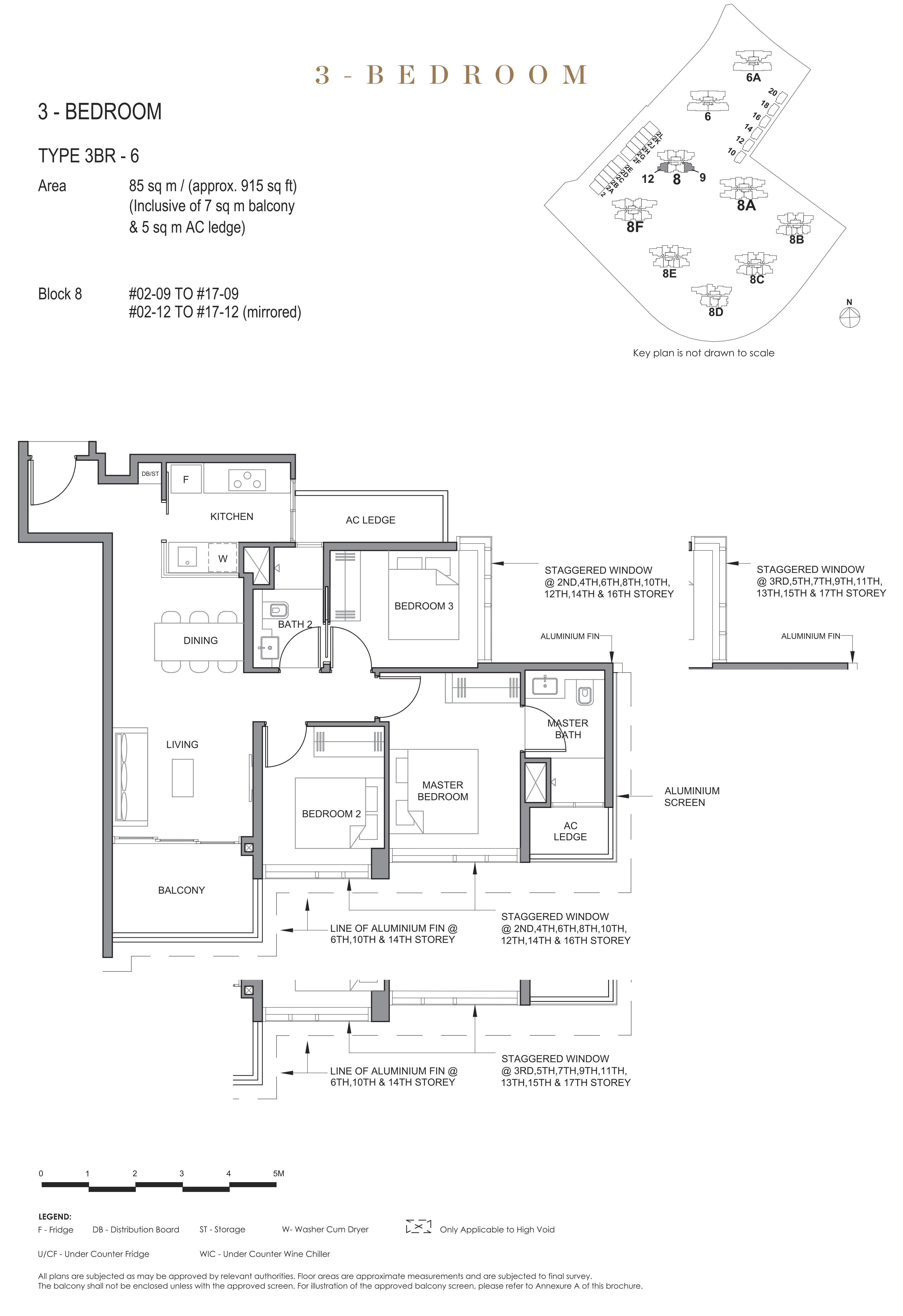 Parc Clematis 锦泰门第 elegance 3 bedroom 3卧房 3BR-6