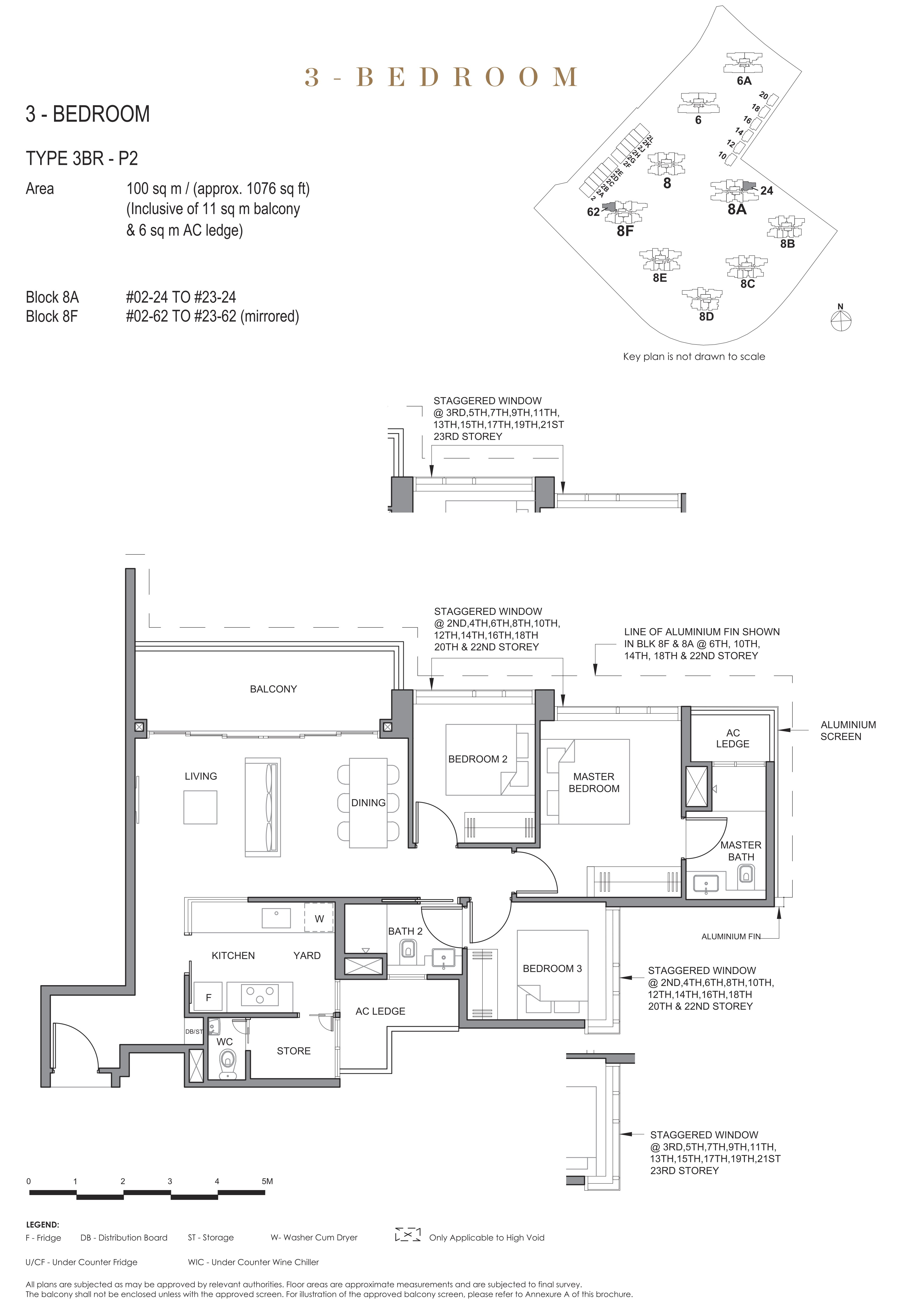 Parc Clematis 锦泰门第 elegance 3 bedroom 3卧房 3BR-P2