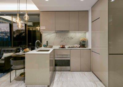 Parc Esta 东景苑 interior full equipped kitchen