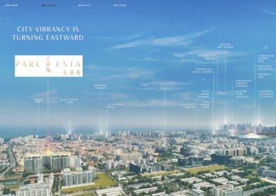 Parc Esta 东景苑 location aerial view