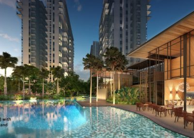 The Florence Residences 悦湖苑 Clubhouse_Pool_AI