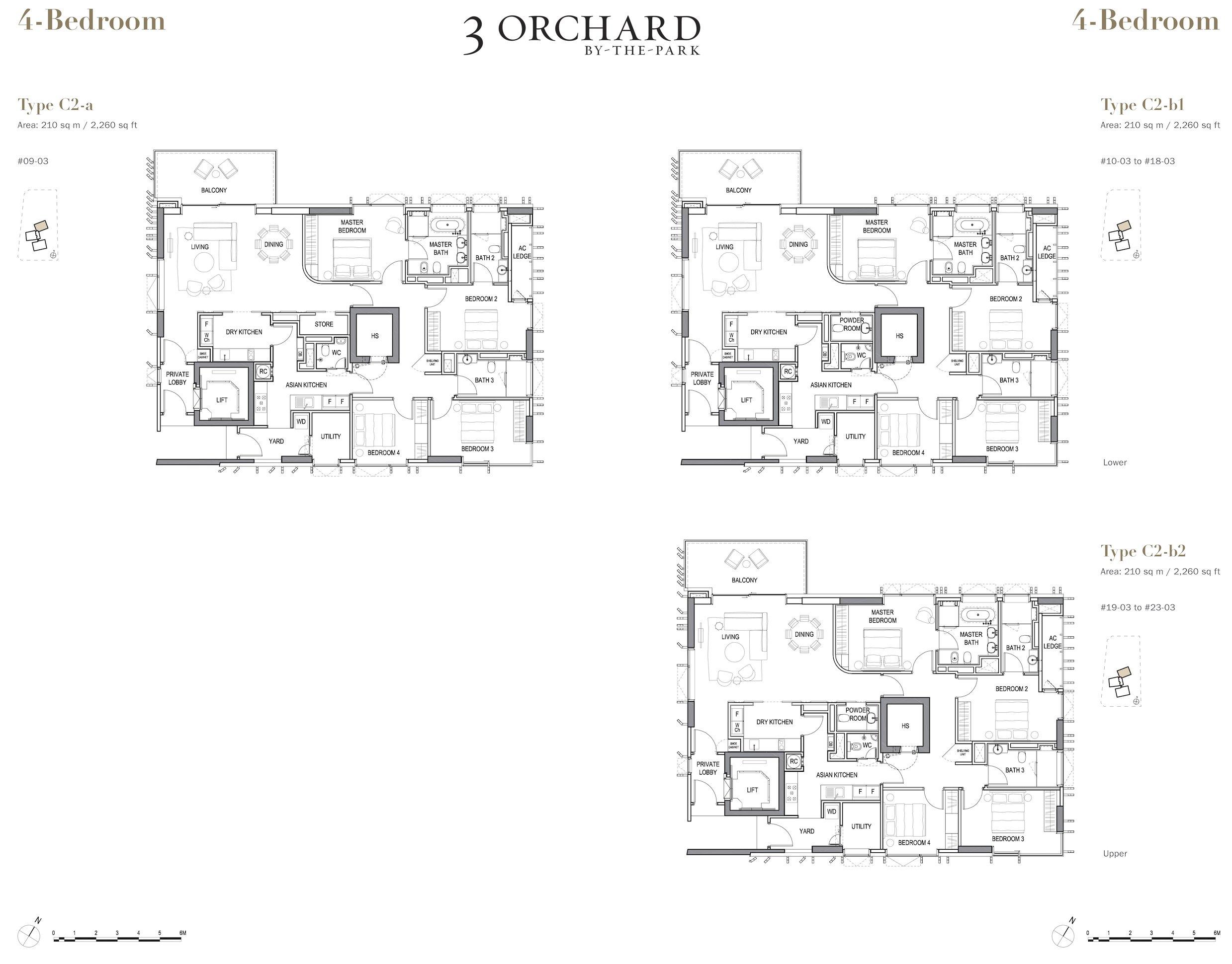 乌节三翠林 3 Orchard By The Park 4 bedroom wood