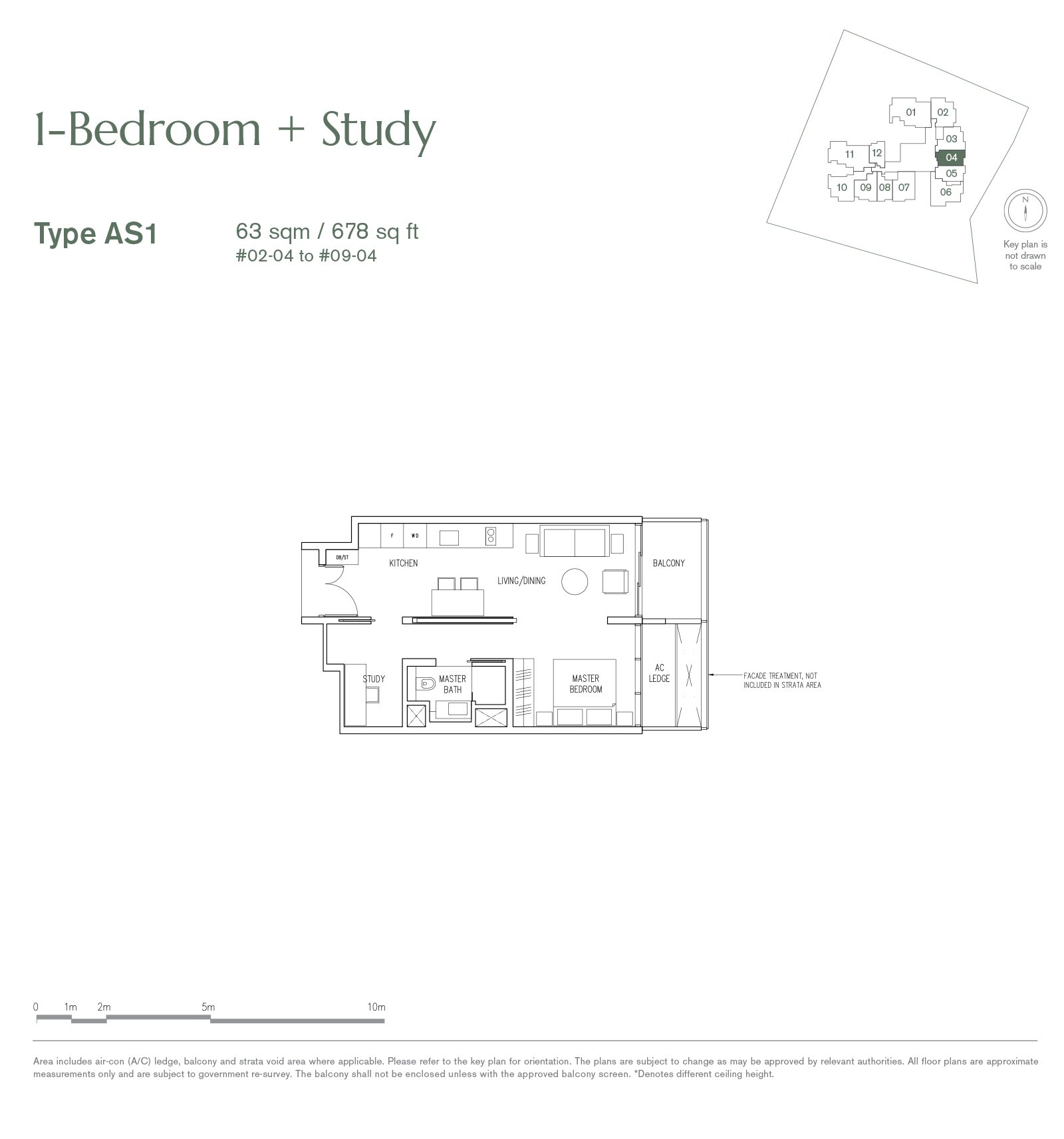 19 Nassim 纳森山公寓 floor plan 1-bedroom AS1