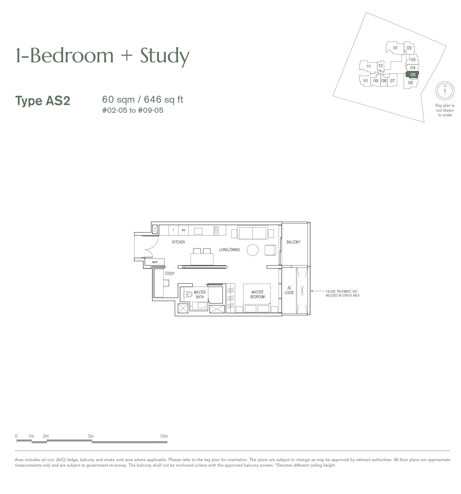 19 Nassim 纳森山公寓 floor plan 1-bedroom-AS2