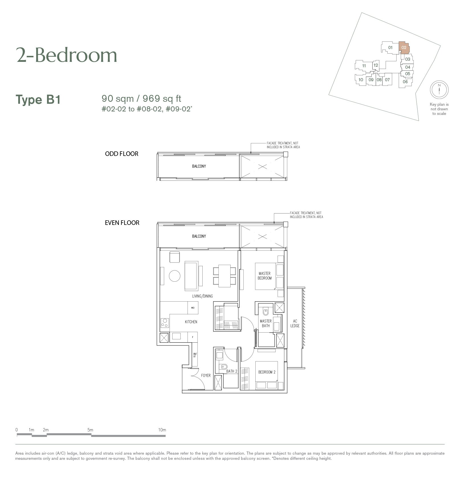 9 Nassim 纳森山公寓 floor plan 2-bedroom-B1
