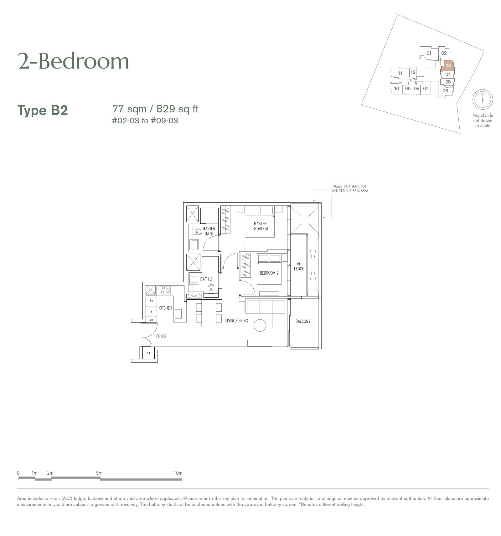 19 Nassim 纳森山公寓 floor plan 2-bedroom-B2