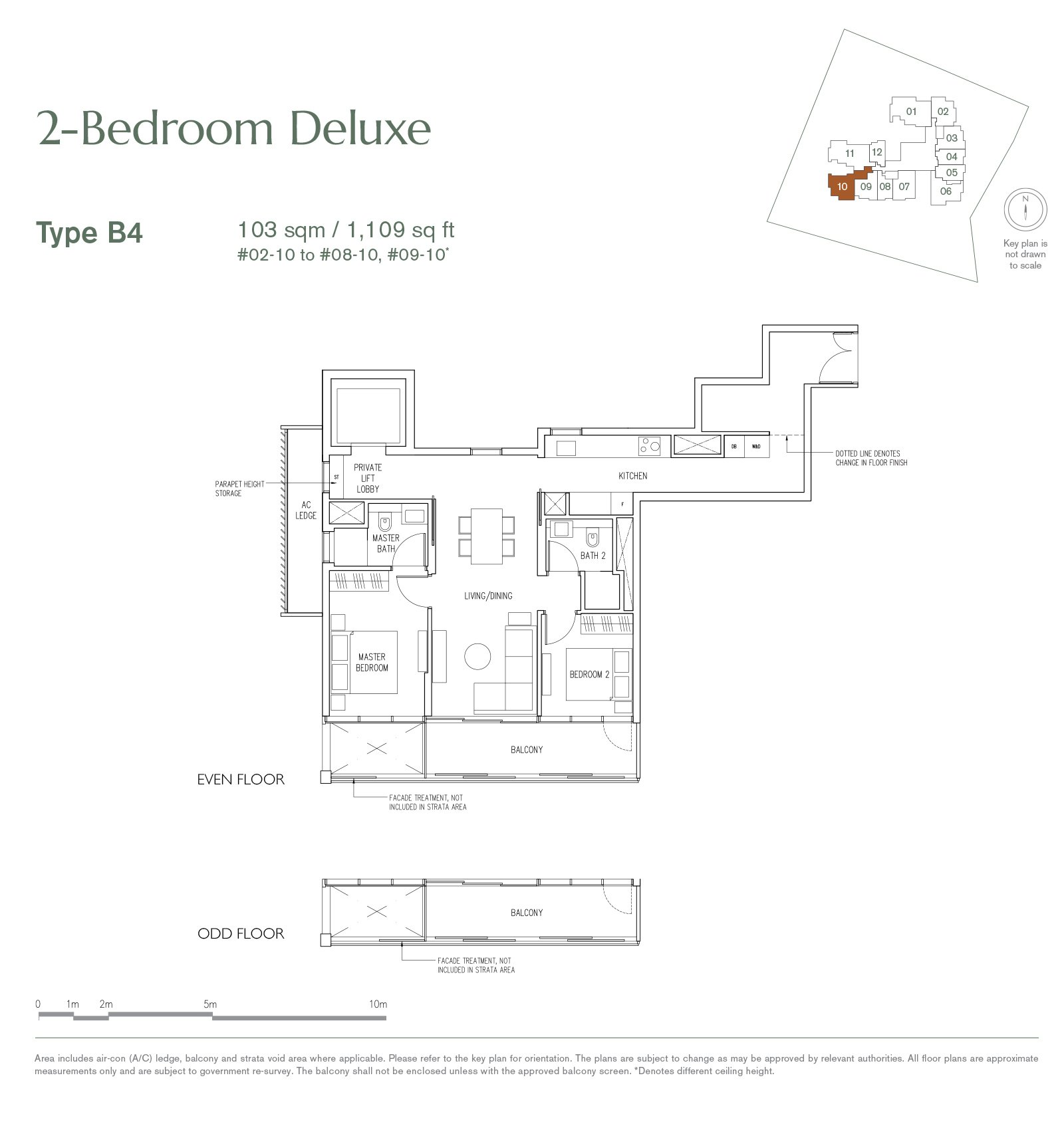 19 Nassim 纳森山公寓 floor plan 2-bedroom-B4