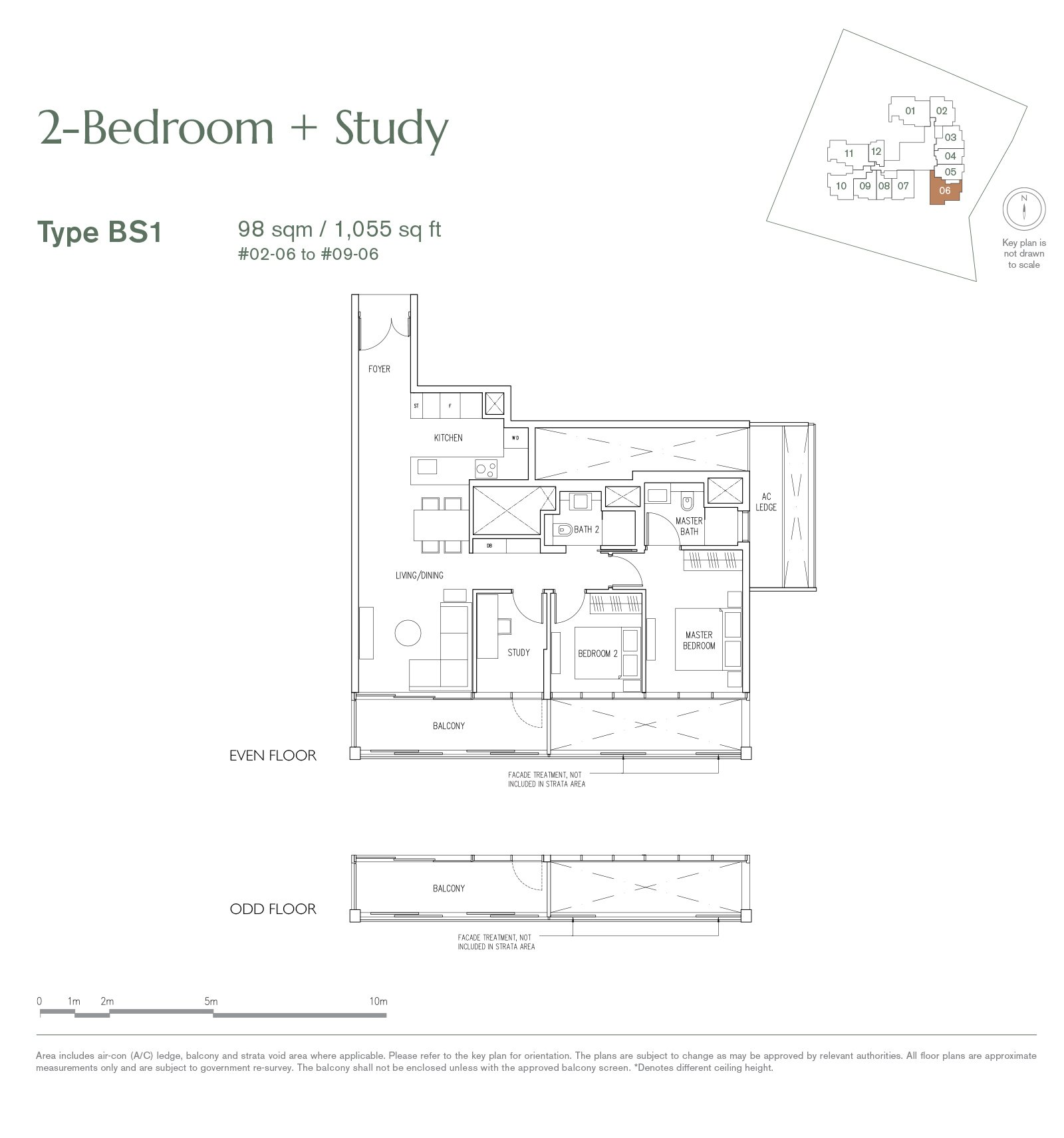 19 Nassim 纳森山公寓 floor plan 2-bedroom-BS1