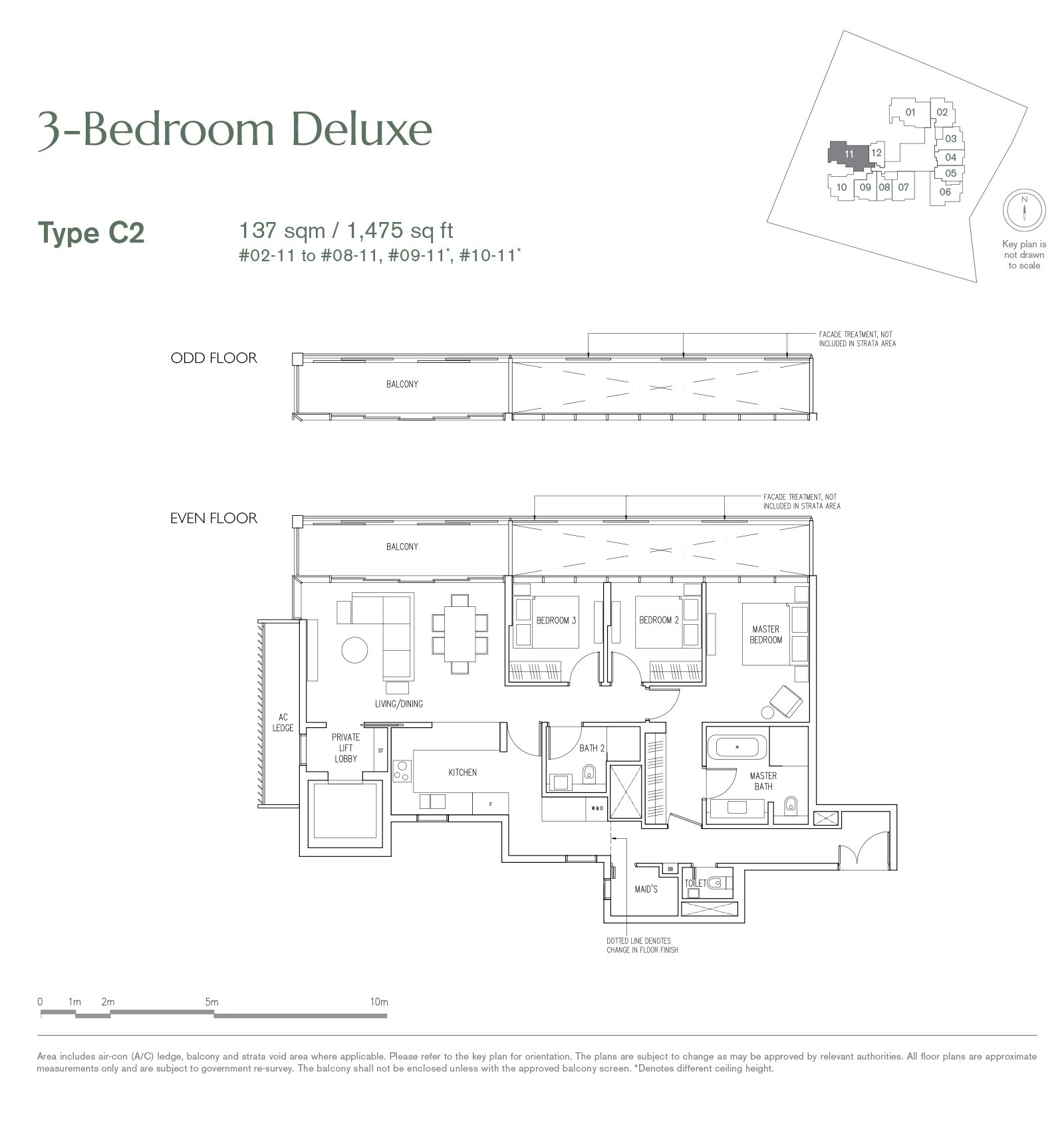 19 Nassim 纳森山公寓 floor plan 3-bedroom-C2