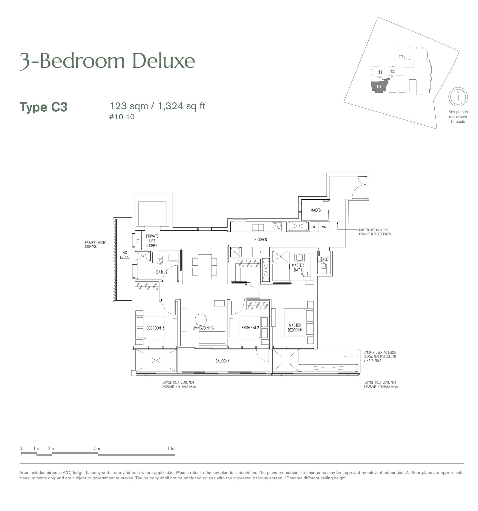 19 Nassim 纳森山公寓 floor plan 3-bedroom-C3