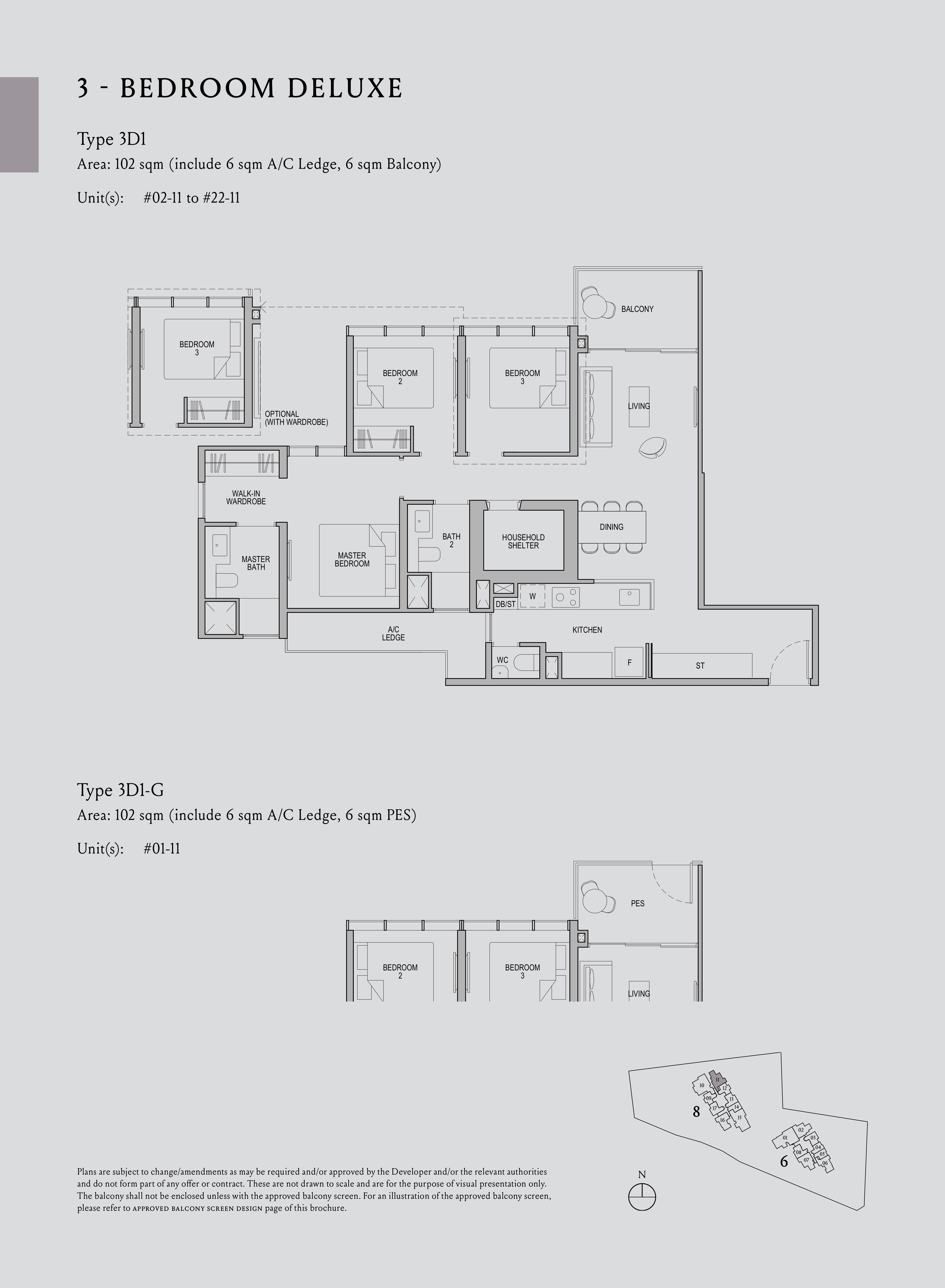 Kopar At Newton 纽顿铜源 3-bedroom deluxe 3D1 floor plan