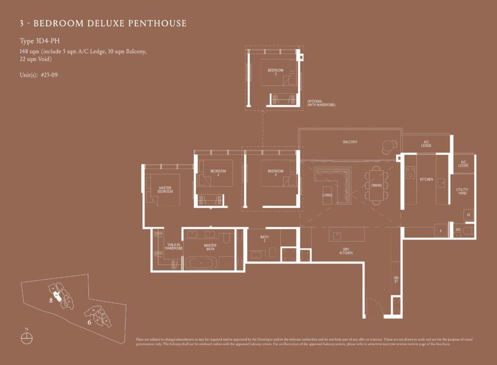 Kopar At Newton 纽顿铜源 3-bedroom deluxe penthouse 3D4-PH floor plan