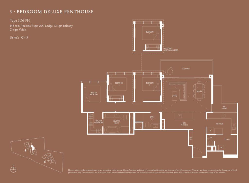 Kopar At Newton 纽顿铜源 3-bedroom deluxe penthouse 3D6-PH floor plan