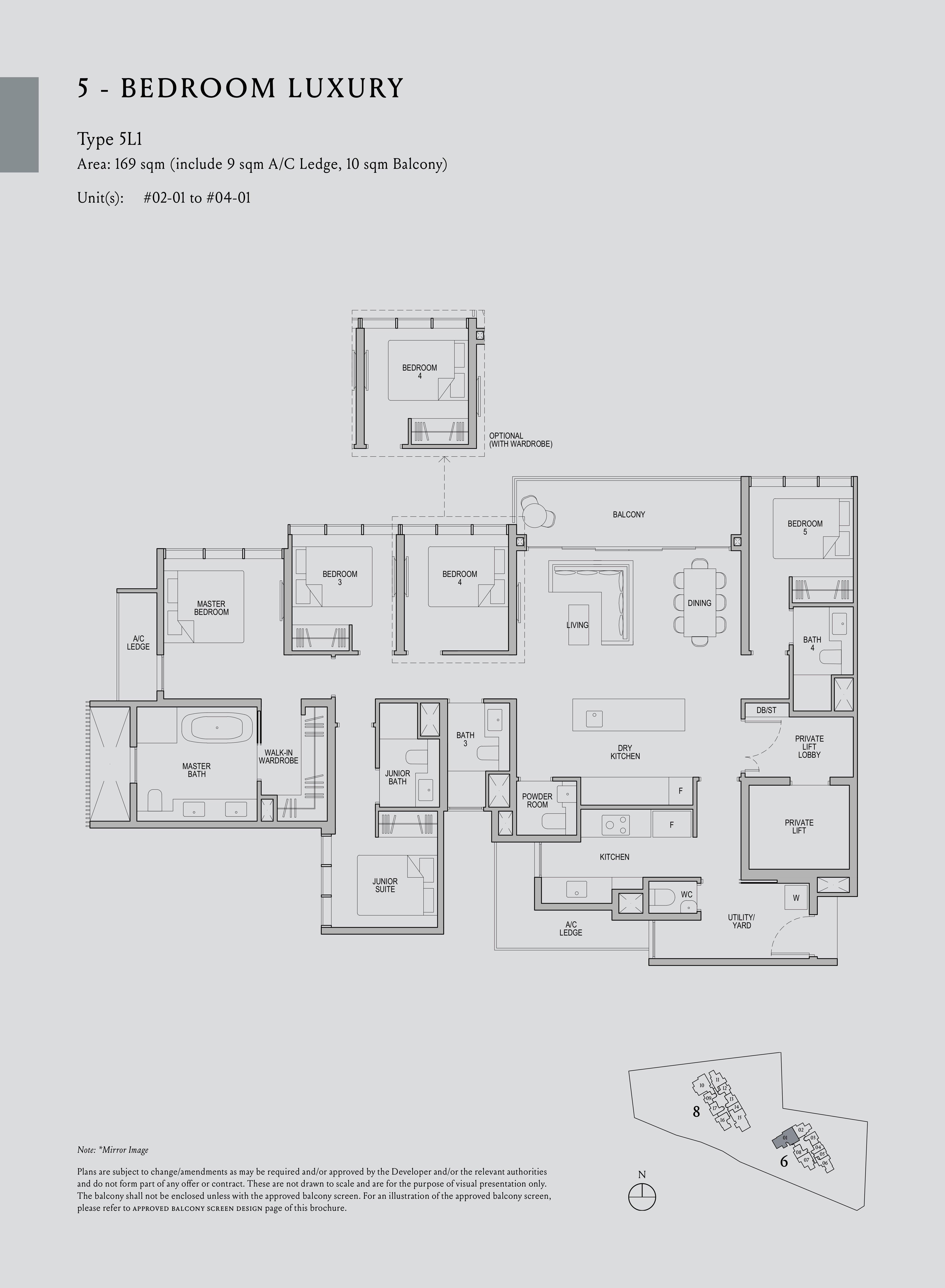 Kopar At Newton 纽顿铜源 5-bedroom deluxe 5L1 floor plan