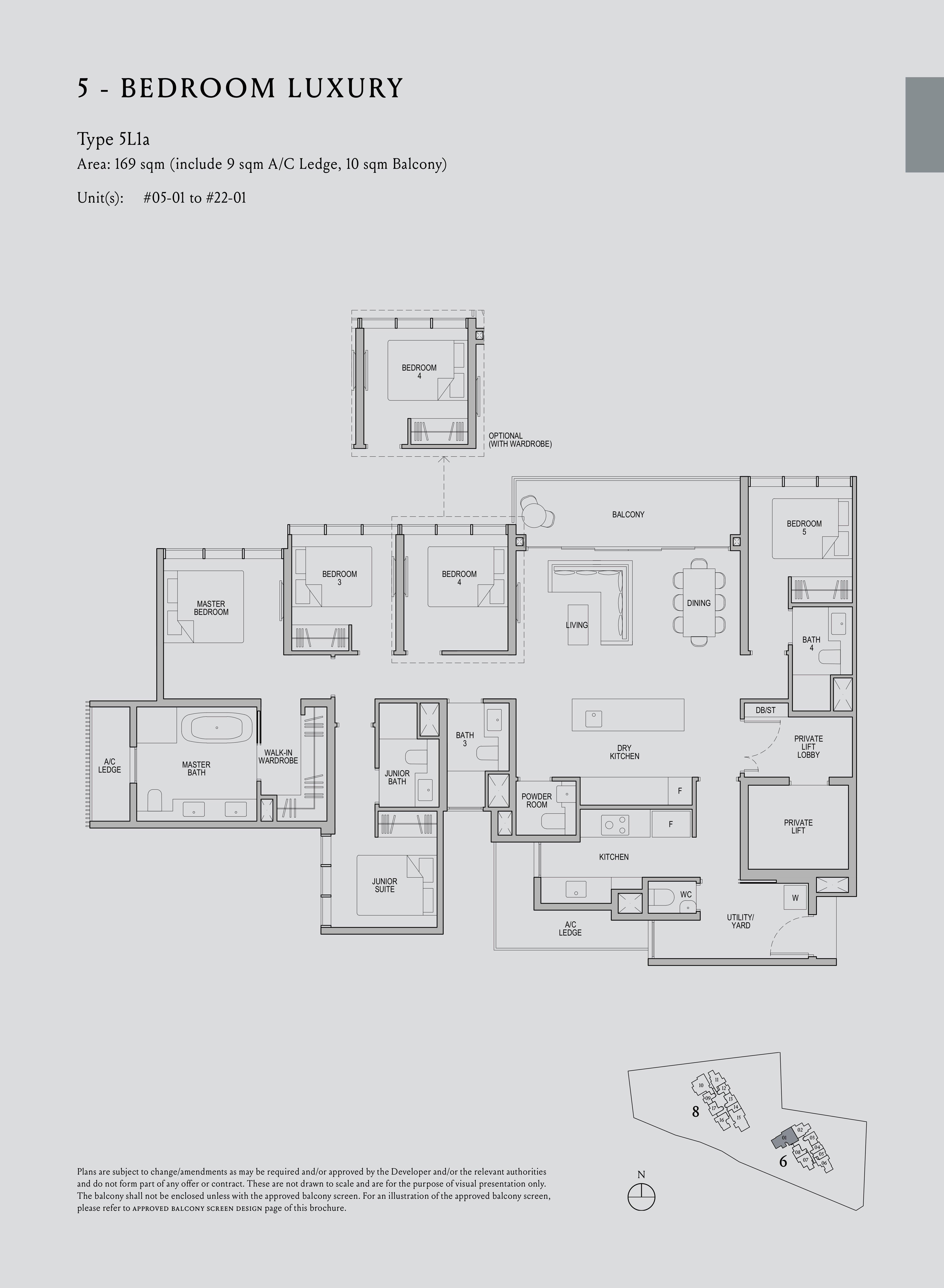 Kopar At Newton 纽顿铜源 5-bedroom deluxe 5L1a floor plan