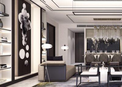 Jadescape 顺福轩 condo interior design 5-bedder living